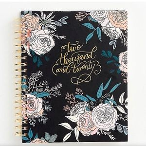 Paper Source 12 Month Rose Floral Planner NWT